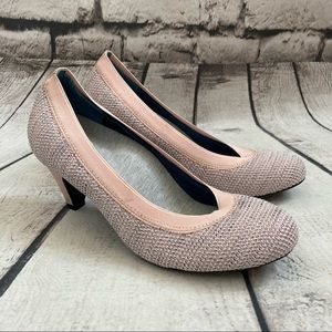 Betabrand Pink late to the gate Kitten heel 6.5
